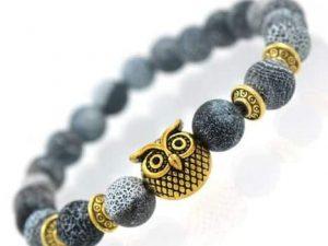 Mr. Pefe Owl Bracelet Blue Gold - Armband Uil Blauw Goud