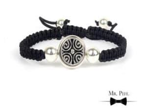 Mr Pefe Luxury Parel Zwart Heren Armband