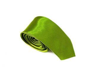 Stropdas Skinny Satijn Groen