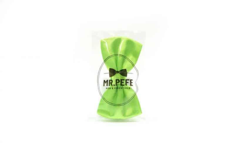 Mr. Pefe Vlinderstrik Satijn Licht Groen