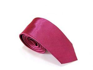 Stropdas Skinny Satijn Roze