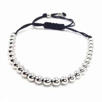 Mr. Pefe Armband Beads Bracelets Silver - Zilverkleurig