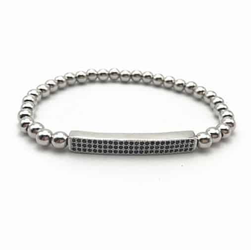 Armband Zilverkleurig Bar Waxkoort