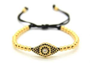 Mr. Pefe Luxury Lucky Eye Gold Armband