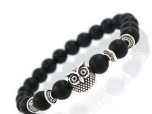 Mr. Pefe Owl Bracelet Black Silver - Armband Uil Zwart Zilver