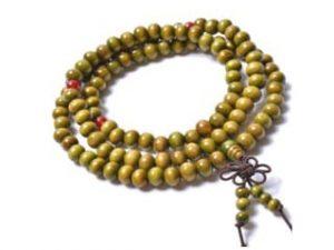 Sandelwood kralenarmband Green - Wikkelarmband groen