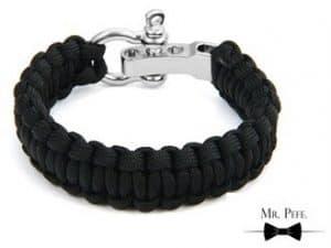 Mr. Pefe Armband Gevlochten Katoen Zwart