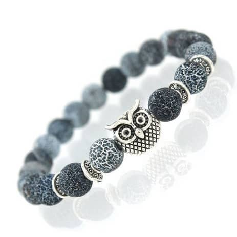 Mr. Pefe Armband Uil Blauw Zilver