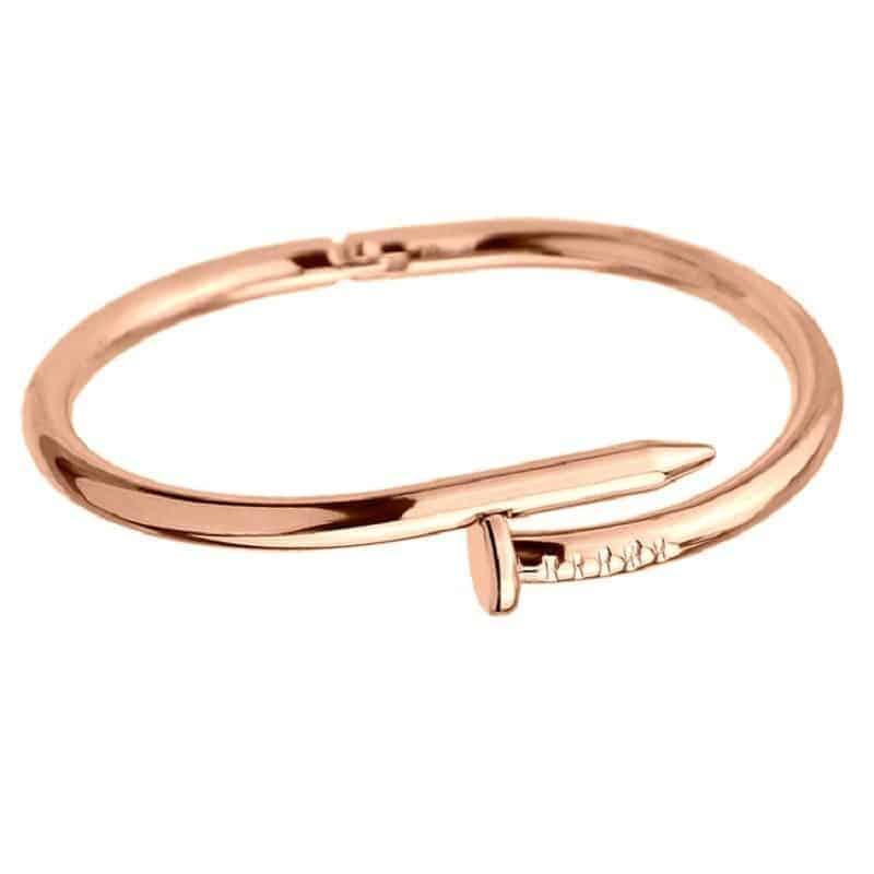 Mrs. Pefe Armband Spijker Rosé Goud
