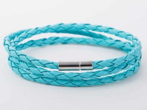 Mr. Pefe Wikkelarmband Licht Blauw Kunstleer