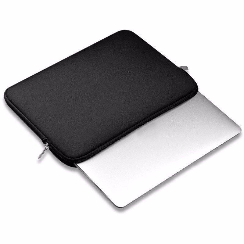 Laptop Sleeve Zwart Stootbestendig met Rits 15 inch