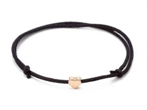 Mrs. Pefe Bedel Hartje Armband Zwart