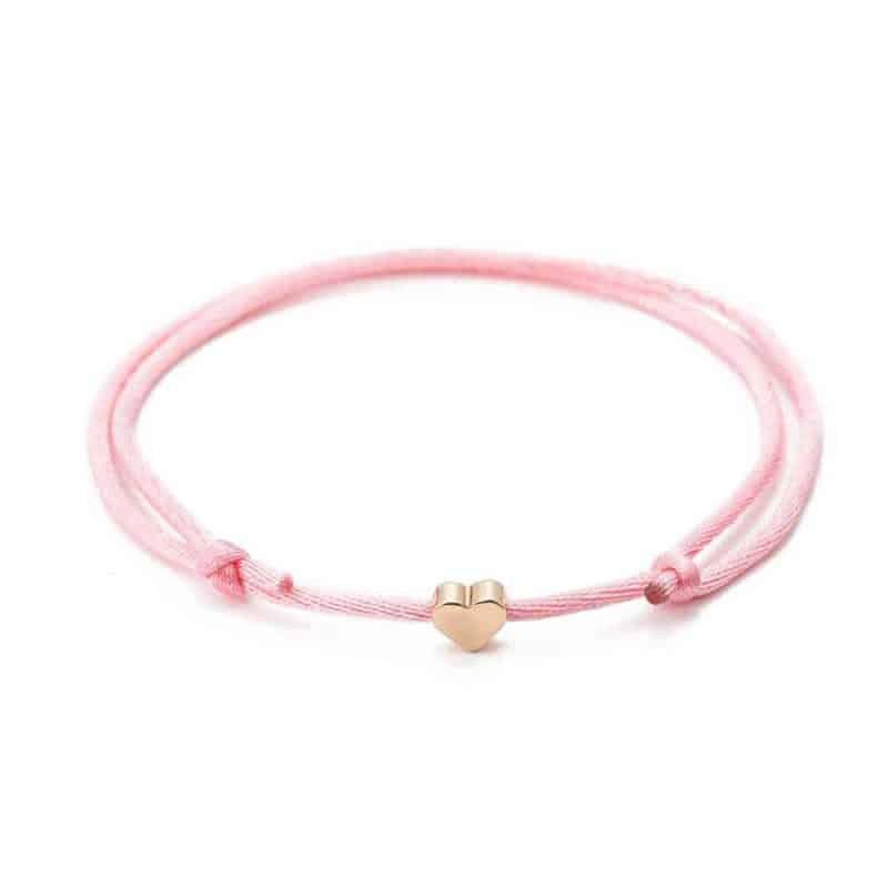 Mrs. Pefe Bedel Hartje Armband Roze