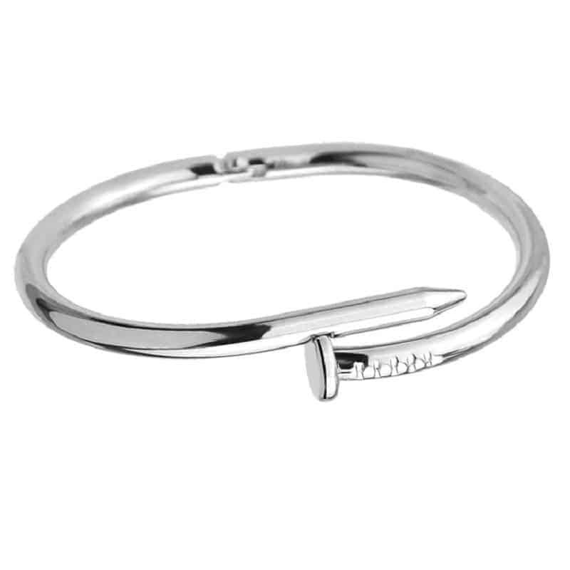 Mrs. Pefe Armband Spijker Zilver