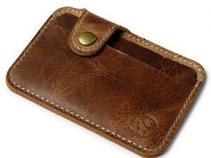 Mr. Pefe Gentlemens Wallet – Leather Wallet – Pasjeshouder - kleur lichtbruin
