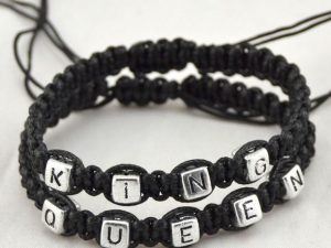 Mr.Pefe King/Queen Bracelets Black on Black - His/Hers armband Zwart