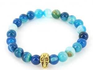 Mr. Pefe Armband Skull Blauw/Goud