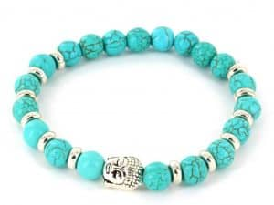 Mr. Pefe Armband Buddha Collectie - Turquase en zilver