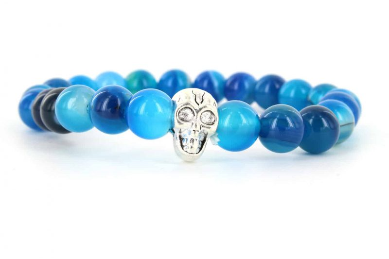 Mr. Pefe Armband Skull Blauw/Zilver