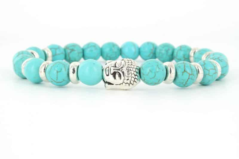 Mr. Pefe Armband Buddha Collectie - Turquase en zilver