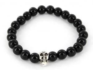 Mr. Pefe Armband Skull Zwart/Zilver