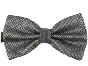 Mr. Pefe Luxe vlinderstrik grijs – Satijn Geblokte Strik