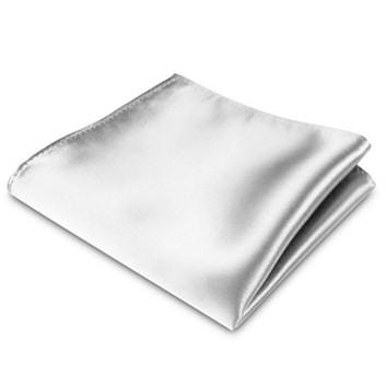 Pochet Luxe Satijn Wit