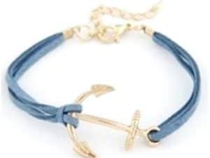 Mr. Pefe Golden Anchor Bracelet – Anker armband Goud/Blauw
