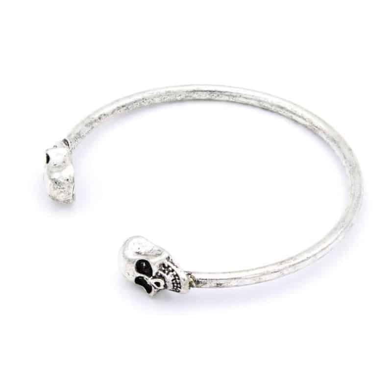 Mr. Pefe Armband Skull Plain Zilver