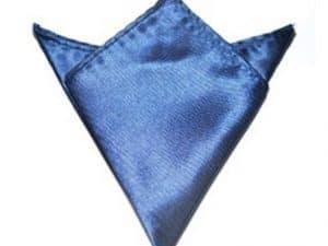 Pochet Satijn Donkerblauw