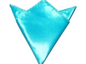 Pochet Satijn Lichtblauwe