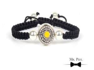 Mr Pefe Luxury Parel Yellow Heren Armband