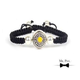 Mr Pefe Luxury Parel Yellow Heren Armband