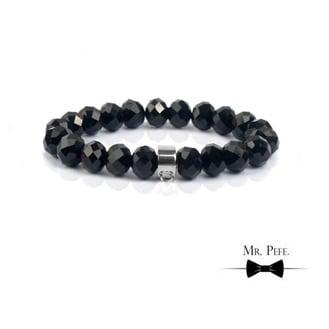 Armband Kralen Zwart Glinsterend