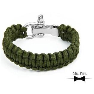 Mr. Pefe Armband Gevlochten Katoen Groen