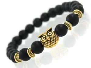 Mr. Pefe Armband Uil Zwart Goud