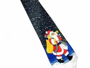 Kerst stropdas – Merry Christmas and a Happy New Tie Nr. 12 – Men Christmas Tie