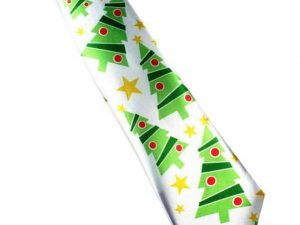 Kerst stropdas – Merry Christmas and a Happy New Tie Nr. 5 – Men Christmas Tie