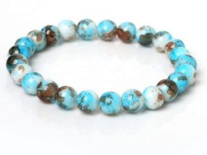 Mr. Pefe Ibiza Kralen Armband Licht Blauw