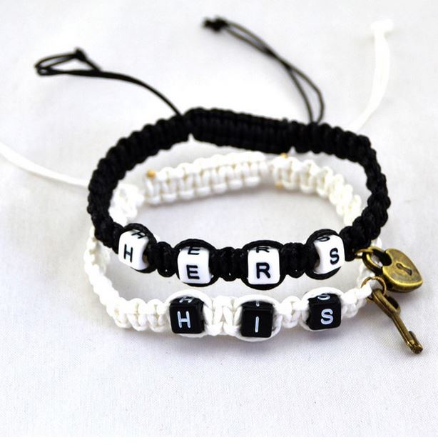 Mr.Pefe His/Hers Bracelets White and Black - His/Hers armband Wit en Zwart