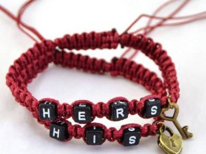 Mr.Pefe His/Hers Bracelets Red and Black - His/Hers armband Rood
