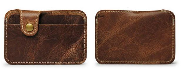 Mr. Pefe Gentlemens Wallet – Leather Wallet – Pasjeshouder - kleur lichtbruin