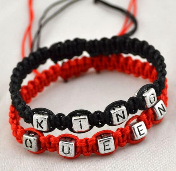 Mr.Pefe King/Queen Bracelets Red and Black - His/Hers armband Zwart
