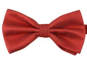 Mr. Pefe Luxe vlinderstrik Rood - Satijn geblokt strik