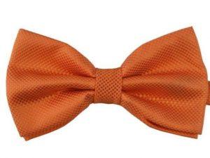 Mr. Pefe Luxe vlinderstrik oranje – Satijn geblokte strik