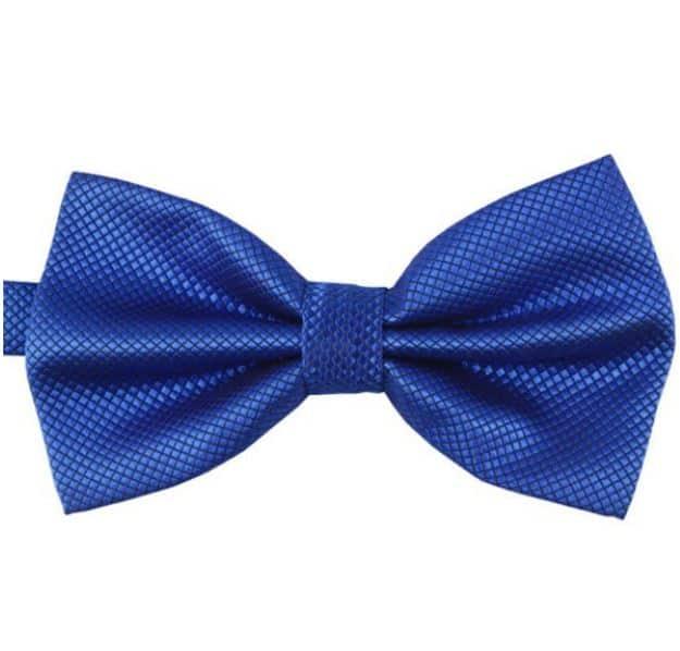 Mr. Pefe Luxe vlinderstrik blauw – Satijn Geblokte Strik