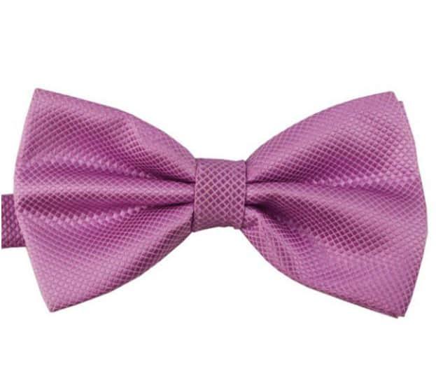 Mr. Pefe Luxe vlinderstrik paars – Satijn Geblokte Strik
