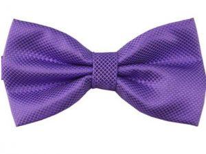 Mr. Pefe Luxe vlinderstrik lila paars – Satijn Geblokte Strik