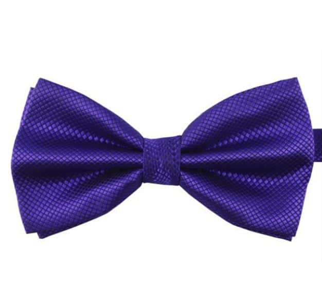 Mr. Pefe Luxe vlinderstrik blauw/paars – Satijn Geblokte Strik