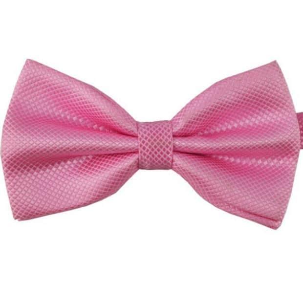 Mr. Pefe Luxe vlinderstrik roze – Satijn Geblokte Strik